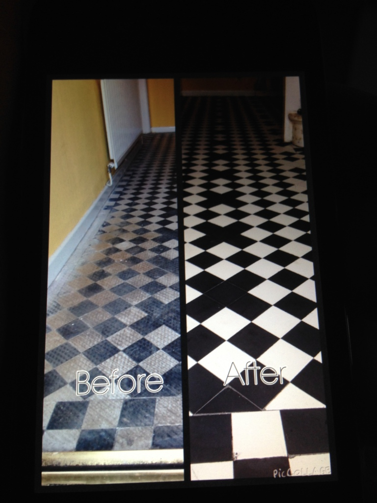 Victorian Floor Dorchester Patern Before and After
