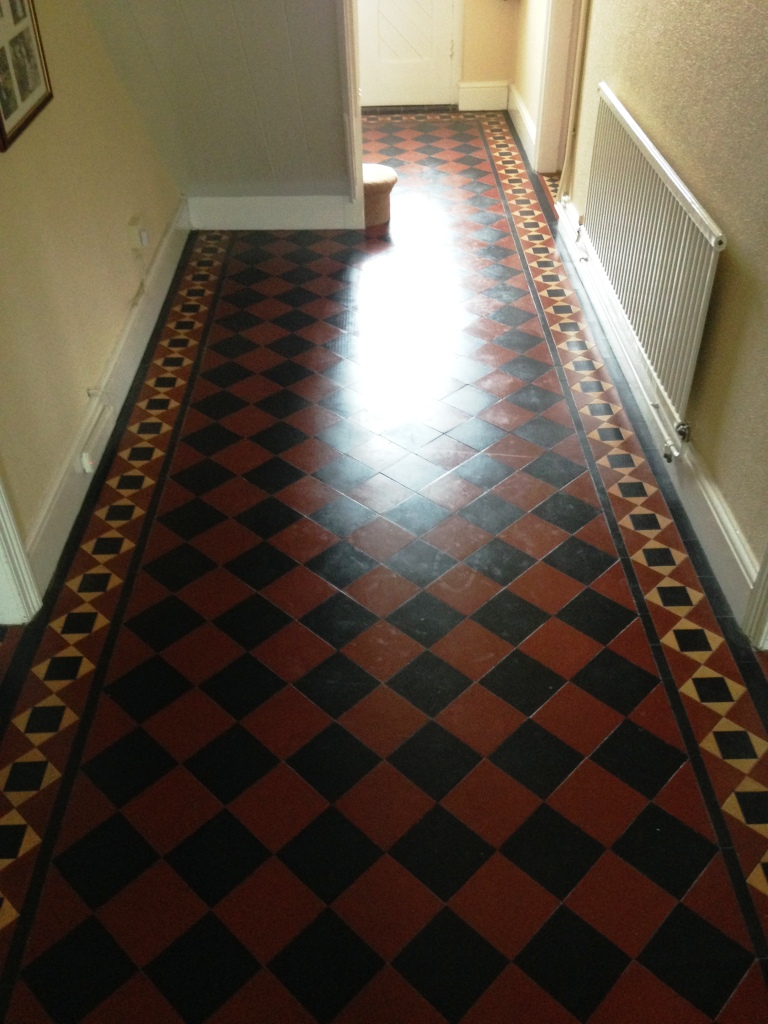 Victorian Hallway Floor Newport Before