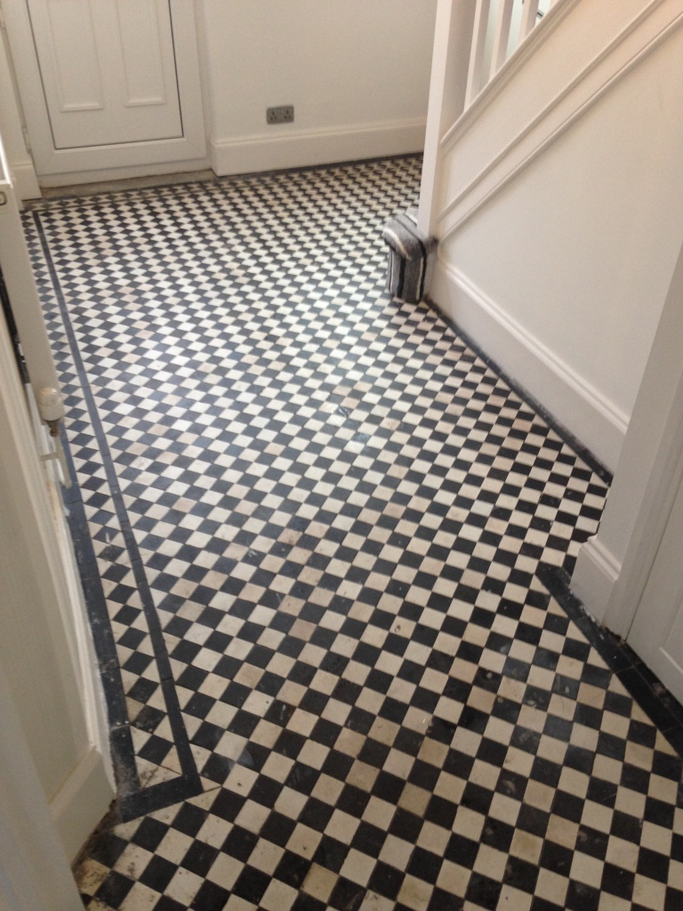 Victorian floor before cleaning Newport