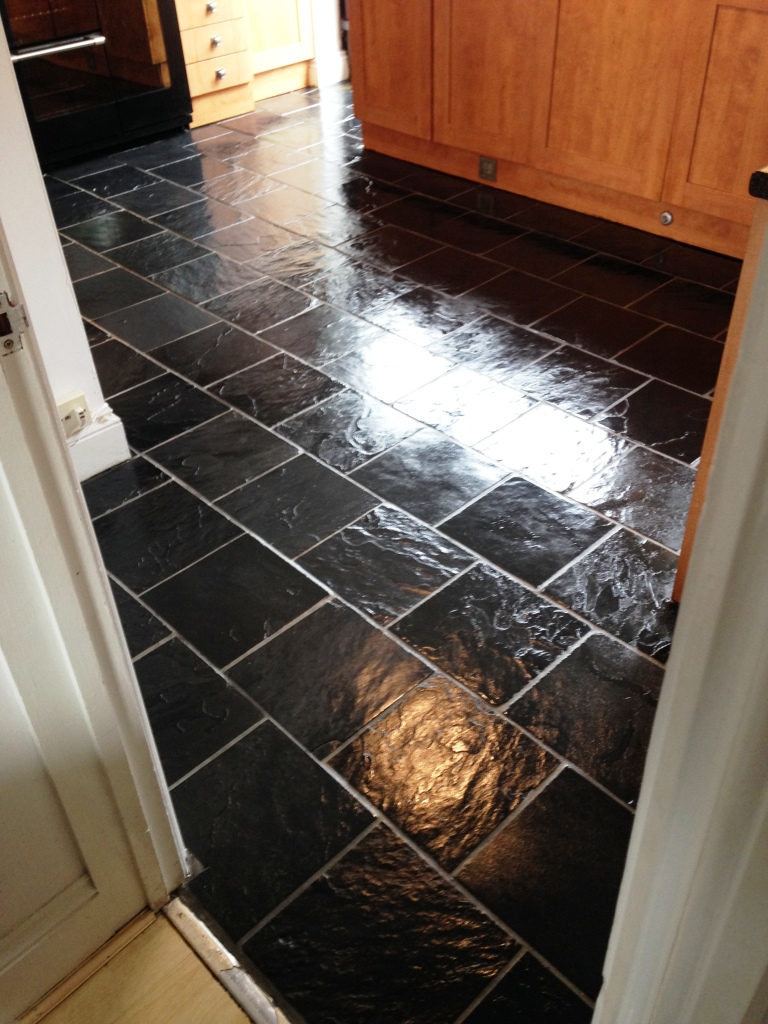 Slate floor after cleaning Pontypool
