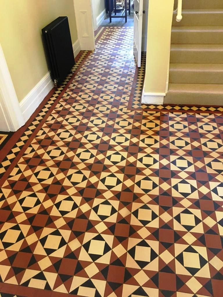 Victorian Tiled Hallway After Cleaning Abergavenny