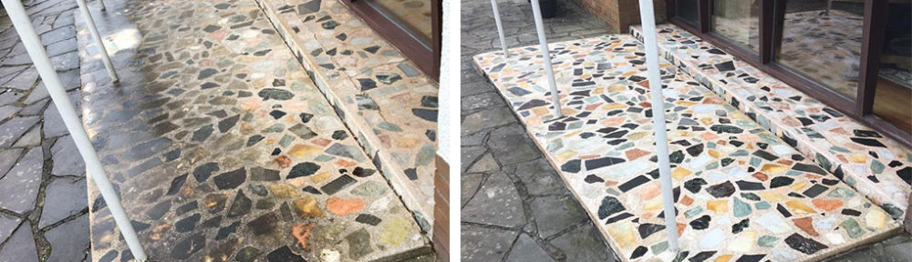 Terrazzo Tiled Porch Before After Restoration Newport