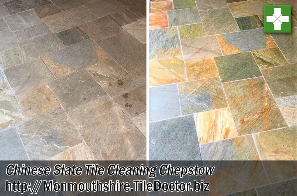 Chinese Slate Tiled Kitchen Floor Cleaning Chepstow