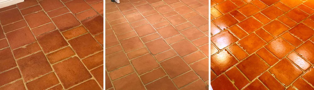 Terracotta Farmhouse Floor Renovated at Symonds Yat Holiday Home