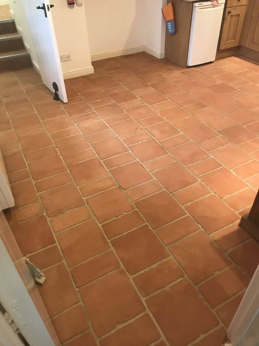 Terracotta Tiled Floor After Cleaning Symonds Yat Holiday Home