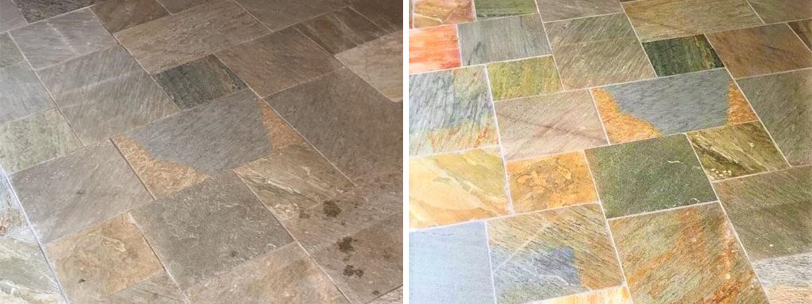 Chinese-Slate-Tiled-Kitchen-Floor-Before-After-Cleaning-Chepstow