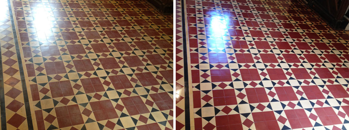 Lifeless Victorian Tiled Hallway Rejuvenated in the Caldicot
