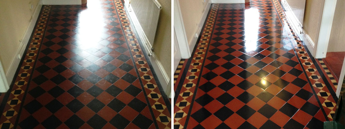 Classic Victorian Patterned Tiles Rejuvenated in Newport