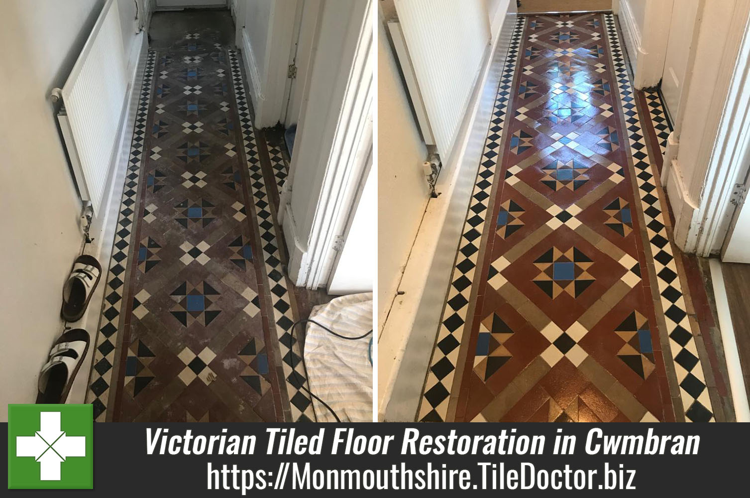 Restoring a Neglected Victorian Tiled Hallway in Cwmbran