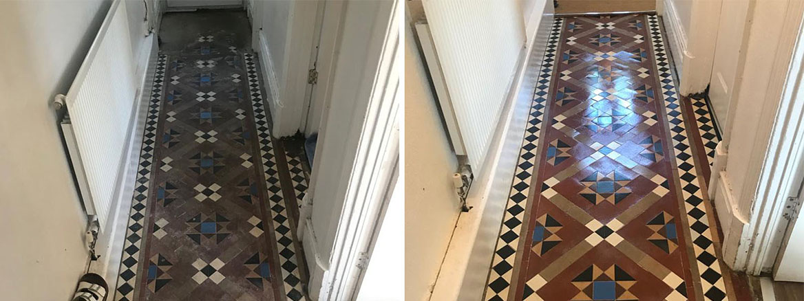 Victorian Tiled Kitchen Floor Renovated in Cwmbran